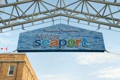 哈利法克斯海口标志-新斯科舍-加拿大 免版税库存照片