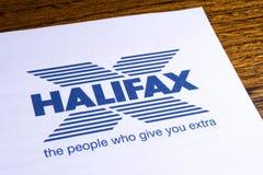 哈利法克斯银行商标 免版税图库摄影