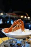 哈利法克斯龙虾食家海鲜塔 库存图片