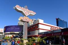 哈利戴维森咖啡馆拉斯韦加斯大道,拉斯维加斯, NV 免版税库存图片
