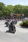 哈利戴维森摩托车事件 免版税库存图片