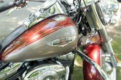 哈利戴维森摩托车细节  库存照片