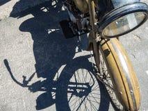 1920年哈利戴维森摩托车 免版税库存照片