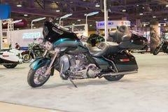 哈利戴维森Electra滑翔超经典摩托车2015年moto 免版税库存图片