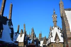 哈利・波特Wizarding世界在环球电影制片厂,大阪 图库摄影