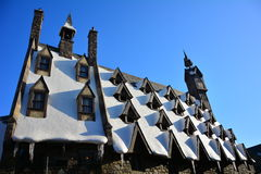 哈利・波特Wizarding世界在环球电影制片厂,大阪 免版税图库摄影