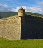 哈卡城堡是五角形设防,被建立在16世纪末期。 免版税库存图片