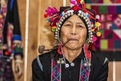 哈妮妇女在云南,中国 免版税库存照片