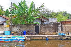 哈密尔顿运河, Negombo斯里兰卡 库存图片