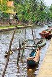 哈密尔顿运河, Negombo斯里兰卡 免版税图库摄影