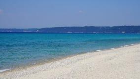 哈尔基季基州海滩 库存照片