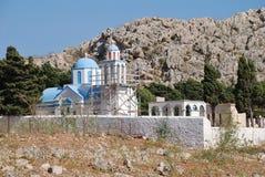 哈尔基岛公墓,希腊 免版税库存照片