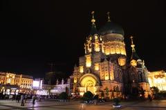 哈尔滨都市风景 免版税库存照片