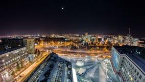 哈尔科夫市从上面夜timelapse的 乌克兰 股票录像