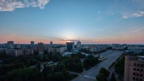 哈尔科夫市从上面日出timelapse的 乌克兰 股票录像
