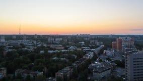 哈尔科夫市从上面日出timelapse的 乌克兰 影视素材