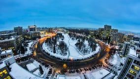 哈尔科夫市从对夜timelapse的天上 乌克兰 影视素材