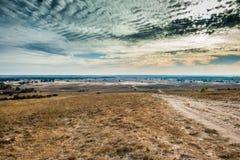 哈尔科夫沙漠看法在秋天 免版税库存照片
