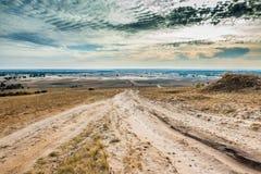 哈尔科夫沙漠看法在秋天 免版税库存图片