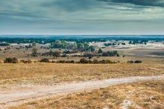 哈尔科夫沙漠看法在秋天 免版税图库摄影