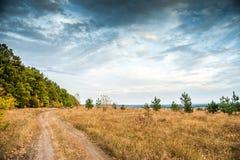 哈尔科夫沙漠风景看法在乌克兰 库存图片