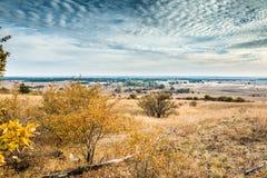 哈尔科夫沙漠风景看法在秋天 库存图片