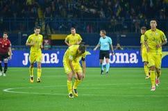 哈尔科夫,乌克兰- 2017年9月02日:乌克兰足球运动员d 库存图片