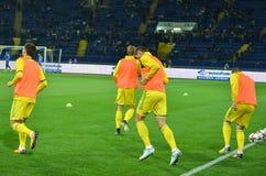 哈尔科夫,乌克兰- 2017年9月02日:乌克兰足球运动员t 免版税库存图片