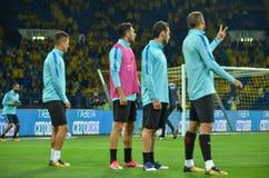 哈尔科夫,乌克兰- 2017年9月02日:土耳其足球运动员t 库存图片