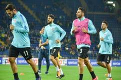 哈尔科夫,乌克兰- 2017年9月02日:土耳其足球运动员t 免版税库存照片