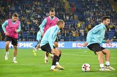 哈尔科夫,乌克兰- 2017年9月02日:土耳其足球运动员t 免版税库存图片