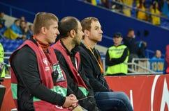 哈尔科夫,乌克兰- 2017年9月02日:在期间的体育场助手 免版税库存照片