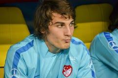 哈尔科夫,乌克兰- 2017年9月02日:在Th期间的足球运动员 库存照片
