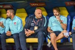 哈尔科夫,乌克兰- 2017年9月02日:n的足球运动员 库存图片