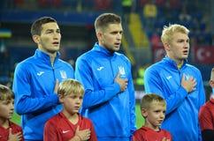 哈尔科夫,乌克兰- 2017年9月02日:U的足球运动员 免版税库存图片
