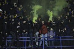 哈尔科夫,乌克兰- 2016年11月15日:Ultras鞔具色的smo 图库摄影
