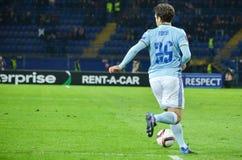 哈尔科夫,乌克兰- 2月23 :在UEFA欧罗巴期间的朱塞佩・罗西 免版税库存照片