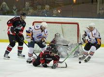 哈尔科夫Donbass冰球符合 图库摄影