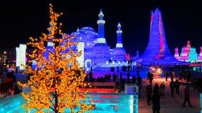 哈尔滨冰上表演 免版税图库摄影