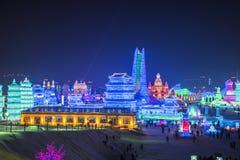 哈尔滨冰节日 免版税库存图片