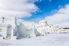 哈尔滨,中国- 2013年2月:国际雪雕艺术商展 免版税图库摄影