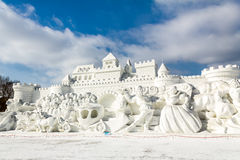 哈尔滨,中国- 2013年2月:国际雪雕艺术商展 图库摄影