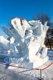 哈尔滨,中国- 2015年1月:国际雪雕艺术商展 库存图片
