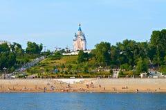 哈巴罗夫斯克,俄国。 江边 免版税库存图片