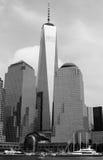 从哈得逊河看见的世界贸易中心一号大楼 库存图片