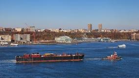 哈得逊河运输 免版税库存图片
