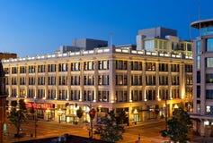 哈德森大厦在晚上 免版税库存照片