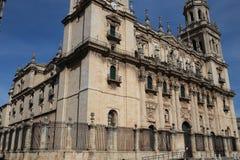 哈恩省大教堂在安大路西亚西班牙 图库摄影