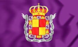 哈恩省市,西班牙旗子  图库摄影