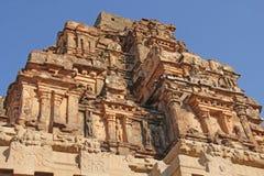 哈扎拉Rama寺庙在亨比,卡纳塔克邦,印度 联合国科教文组织世界Heri 免版税库存图片